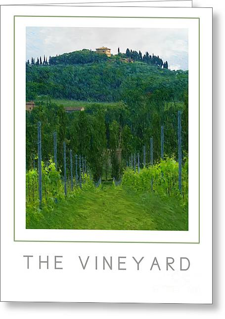 The Vineyard Poster Greeting Card by Mike Nellums