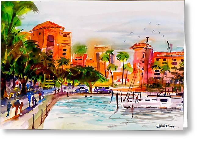 St Petersburg Florida Paintings Greeting Cards - The Vinoy St. Petersburg Florida Greeting Card by Joe Giuffrida