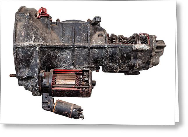 Gearbox Greeting Cards - The Vintage Gearbox Greeting Card by Martin Bergsma