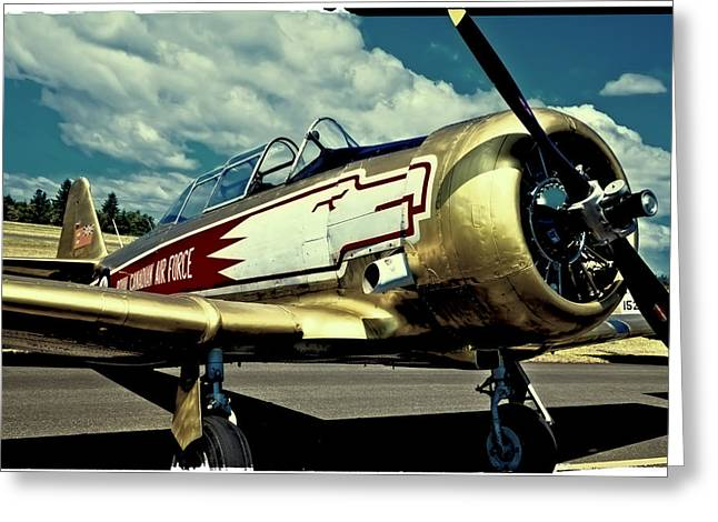 The North Greeting Cards - The Vintage North American T-6 Texan Greeting Card by David Patterson