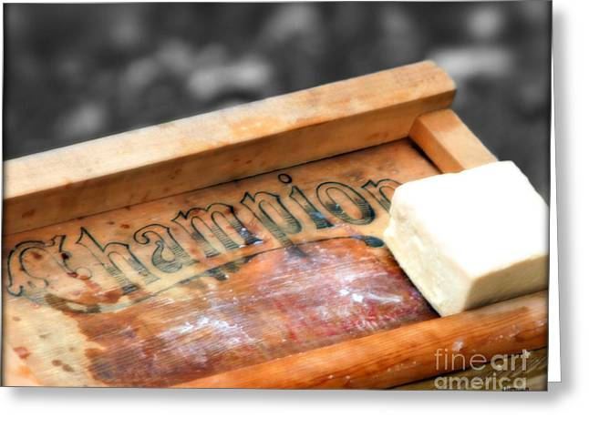 Wash Boards Greeting Cards - The Vintage of Champion  Greeting Card by Steven  Digman