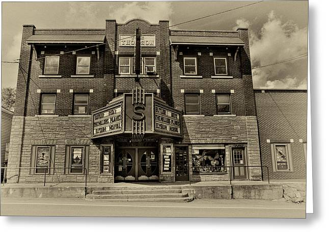 Movie Theatre Greeting Cards - The Vintage Strand Theatre - Old Forge New York Greeting Card by David Patterson