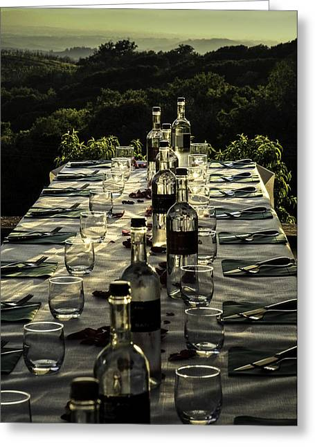 Cater Greeting Cards - The Vintners Table Greeting Card by Curtis Dale