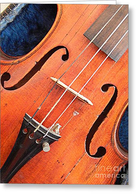 Violin Case Greeting Cards - The Violin And The Memory Of Music Greeting Card by Michael Hoard