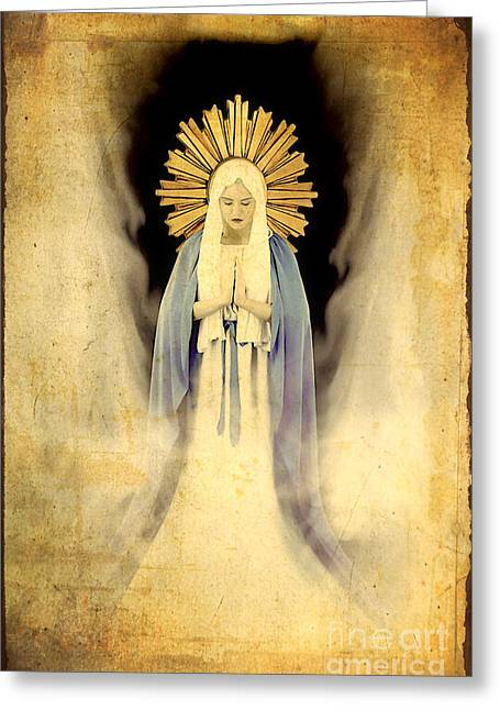 Sorrow Photographs Greeting Cards - The Virgin Mary Gratia plena Greeting Card by Cinema Photography