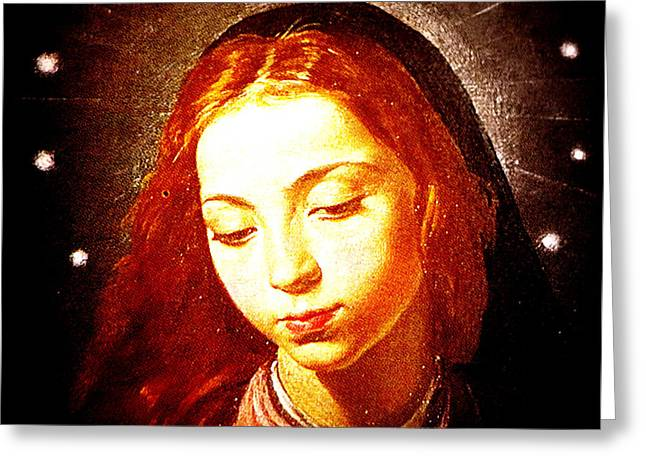 The Virgin Of The Immaculate Conception Greeting Card by Patricia Januszkiewicz