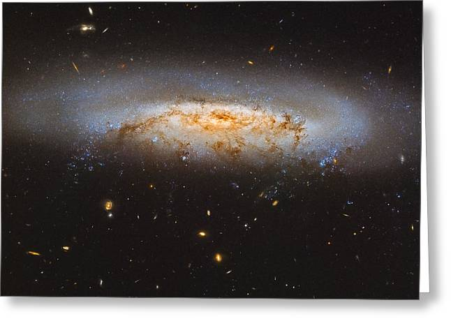 The Virgo Cluster Galaxy Ngc 4522 Greeting Card by Roberto Colombari