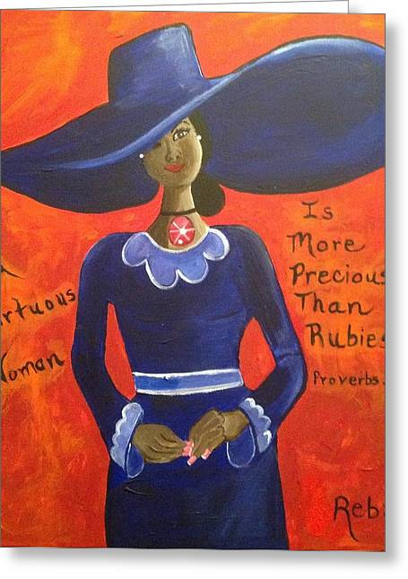 Virtuous Greeting Cards - The Virtuous Woman Greeting Card by Reba Baptist