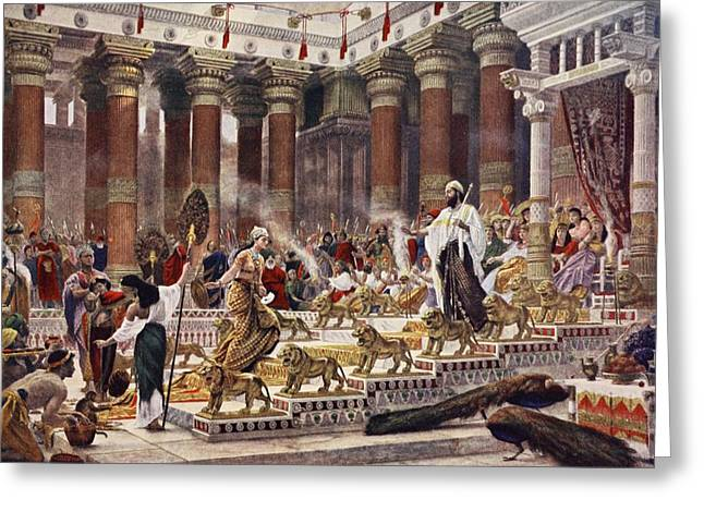 Royalty Greeting Cards - The Visit Of The Queen Of Sheba To King Greeting Card by Sir Edward John Poynter