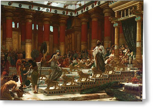Poynter Greeting Cards - The visit of the Queen of Sheba to King Solomon Greeting Card by Edward John Poynter