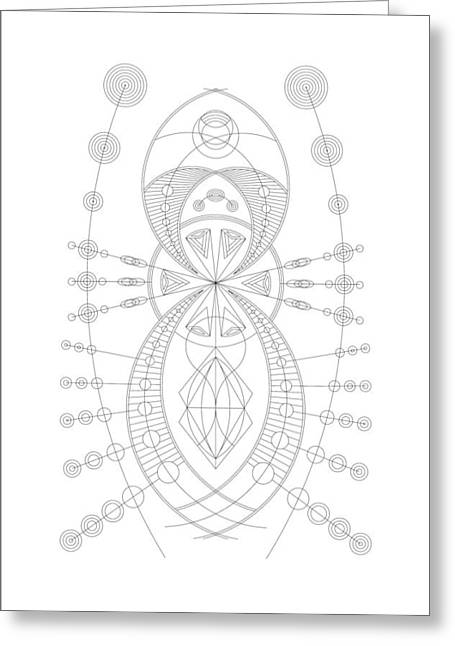 Extraterrestrial Greeting Cards - The Visitor Greeting Card by DB Artist