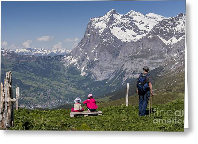 Swiss Alps Greeting Cards - The Vista Greeting Card by Ning Mosberger-Tang