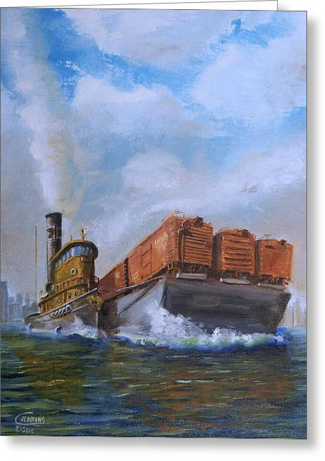 Boxcars Greeting Cards - The Vital Link Greeting Card by Christopher Jenkins