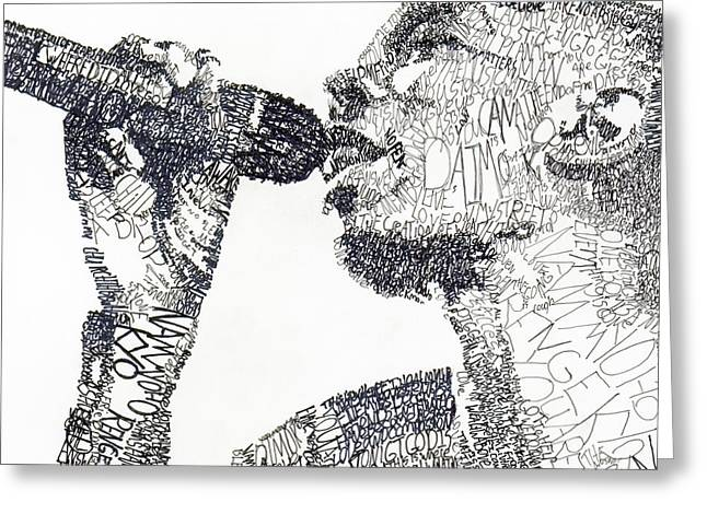 Maxwell Greeting Cards - Maxi Jazz Greeting Card by Michael  Volpicelli