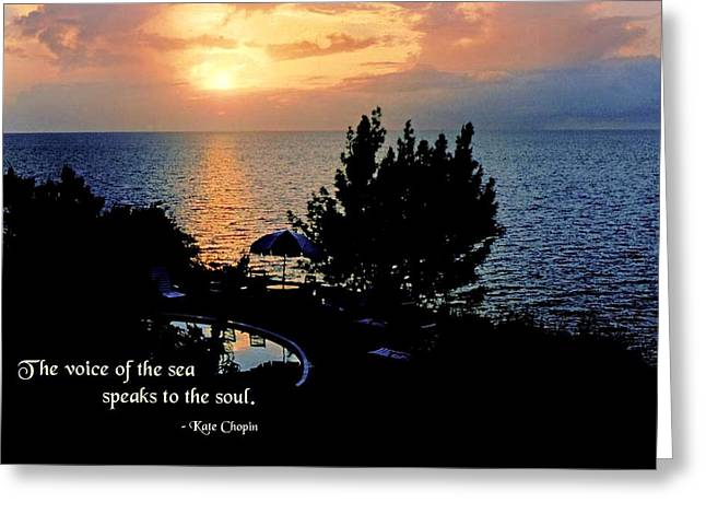 The Voice of the Sea Greeting Card by Mike Flynn
