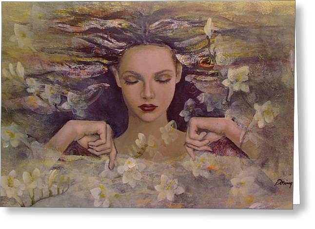 The Voice Of The Thoughts Greeting Card by Dorina  Costras