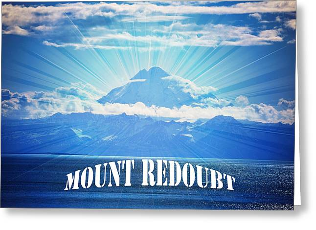 Kenai Alaska Greeting Cards - The Volcano MT Redoubt Greeting Card by Debra  Miller