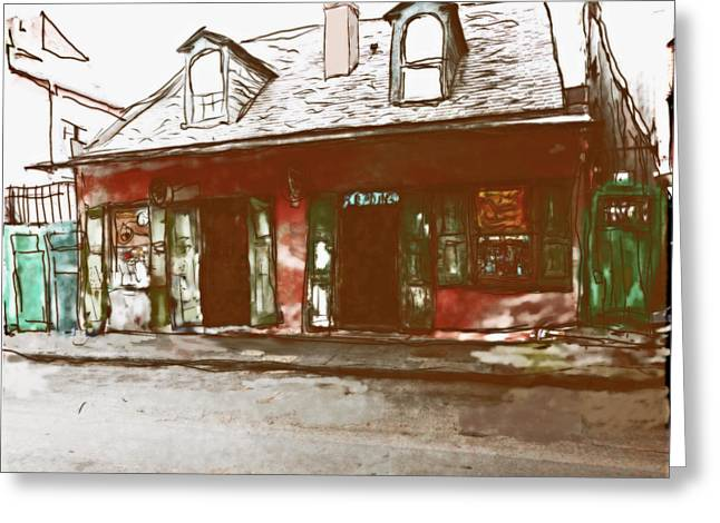 Voodoo Shop Greeting Cards - The Voodoo Shop Greeting Card by Charles McChesney