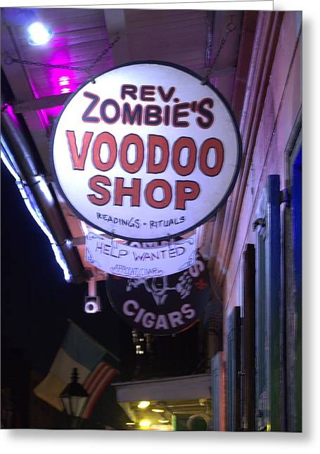 Voodoo Shop Greeting Cards - The Voodoo Shop Swign Greeting Card by Anthony Walker Sr