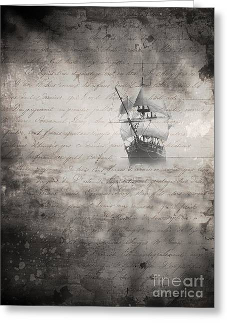 Vapor Greeting Cards - The Voyage Greeting Card by Edward Fielding