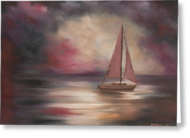 Sailboat Art Greeting Cards - The Voyage  Greeting Card by Marcel Quesnel