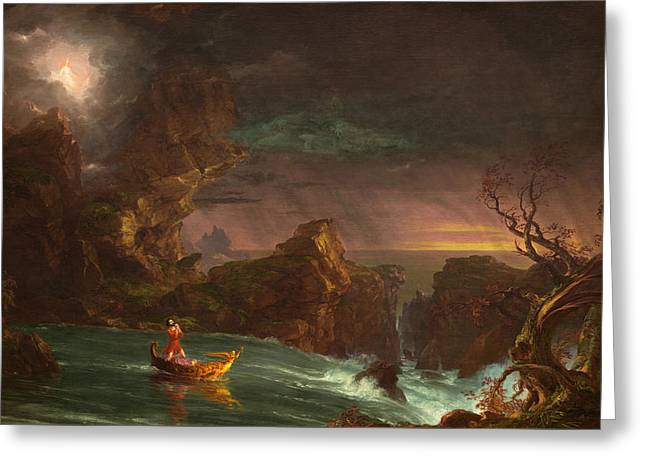 The Voyage Of Life Manhood Greeting Card by Thomas Cole