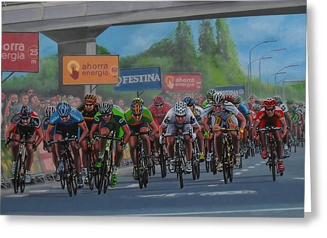 Contador Greeting Cards - The Vuelta Greeting Card by Paul Meijering