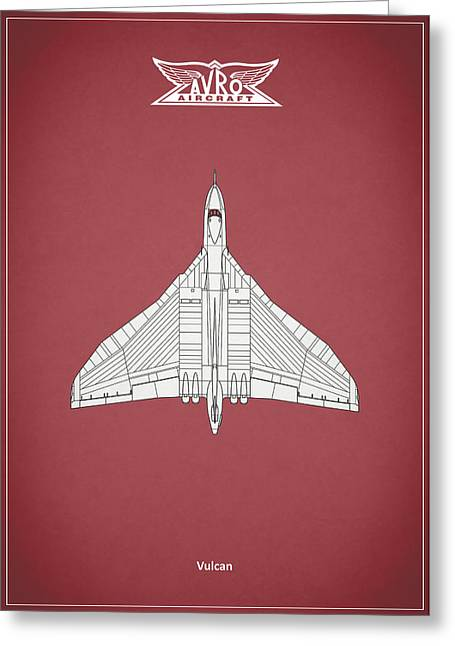 Vulcan Greeting Cards - The Vulcan - Red Greeting Card by Mark Rogan