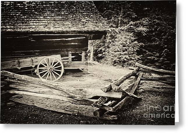 Barn Yard Photographs Greeting Cards - The Wagon Greeting Card by Paul W Faust -  Impressions of Light
