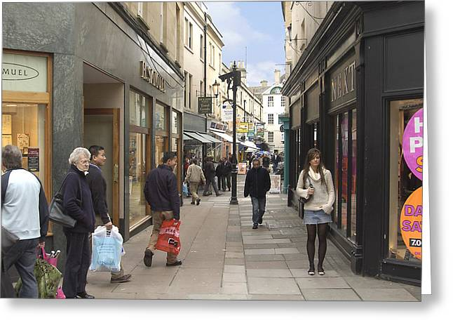 People Digital Greeting Cards - The Wait in Bath Greeting Card by Mike McGlothlen