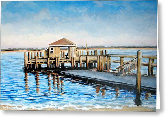 Cape Cod Mass Paintings Greeting Cards - The Wait Greeting Card by Matthew LeVier