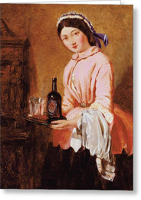 10 Greeting Cards - The Waitress Greeting Card by John Haynes Williams