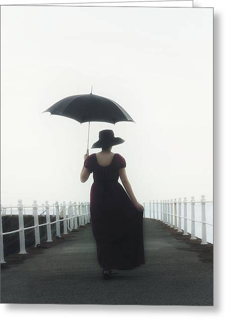 Bannister Greeting Cards - The Walk Greeting Card by Joana Kruse