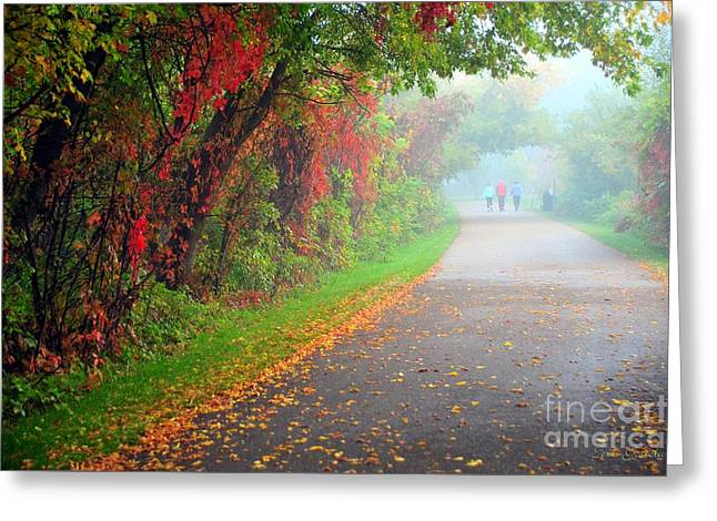 The Walk Greeting Card by Terri Gostola