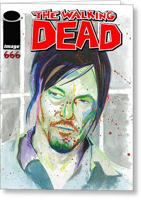 Kyle Willis Greeting Cards - The Walking Dead #666  Greeting Card by Kyle Willis
