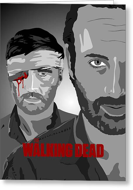 Rick Grimes Greeting Cards - The Walking Dead an eye for an eye Greeting Card by Paul Dunkel
