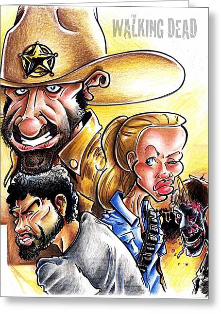 Rick Grimes Greeting Cards - The Walking Dead Greeting Card by Big Mike Roate