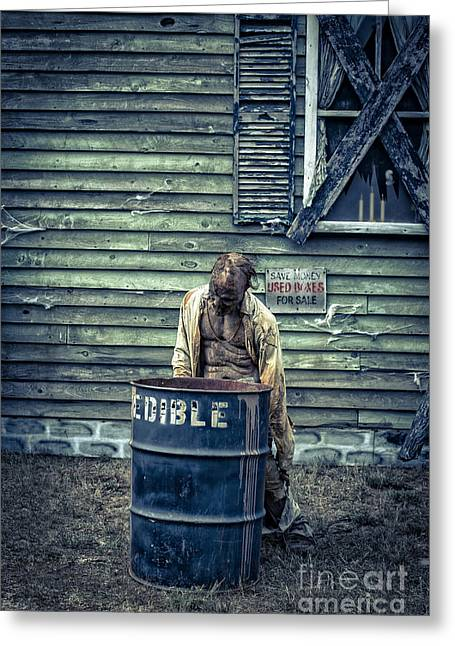 Haunted House Photographs Greeting Cards - The Walking Dead Greeting Card by Edward Fielding
