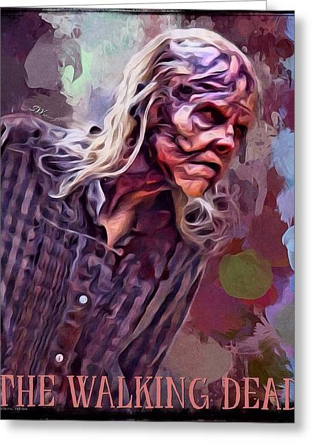 Rick Grimes Greeting Cards - The Walking Dead Zombie Greeting Card by Scott Wallace