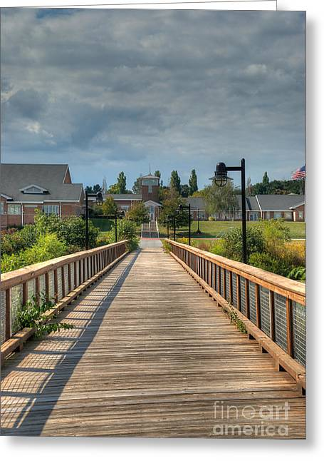 Mhs Greeting Cards - The Walkway Greeting Card by Mark Dodd