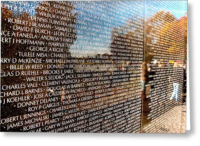 Arlington Greeting Cards - The Wall Greeting Card by Greg Fortier
