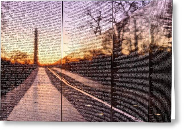 July 4th Photographs Greeting Cards - The Wall Greeting Card by JC Findley