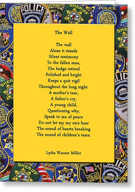 Lydia Miller Greeting Cards - The Wall Greeting Card by Lydia Warner Miller