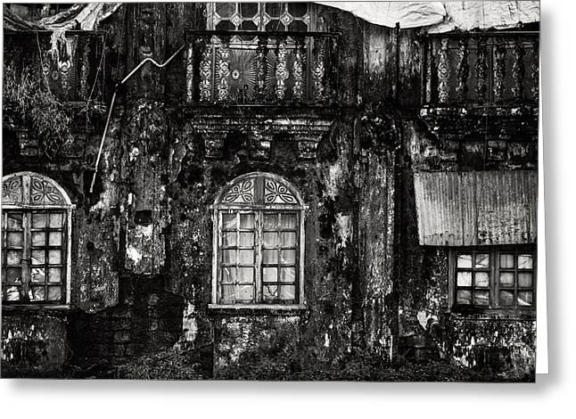 Abandoned Houses Greeting Cards - The Wall of the Old Goan House. Margao. India Greeting Card by Jenny Rainbow