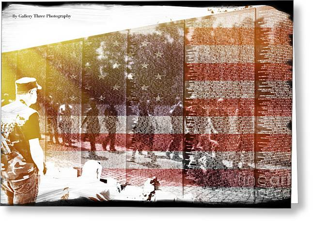 Bravery Greeting Cards - The Wall Greeting Card by Tom Gari Gallery-Three-Photography