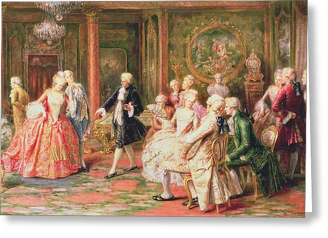 Wig Greeting Cards - The Waltz Greeting Card by A. Zoffoli