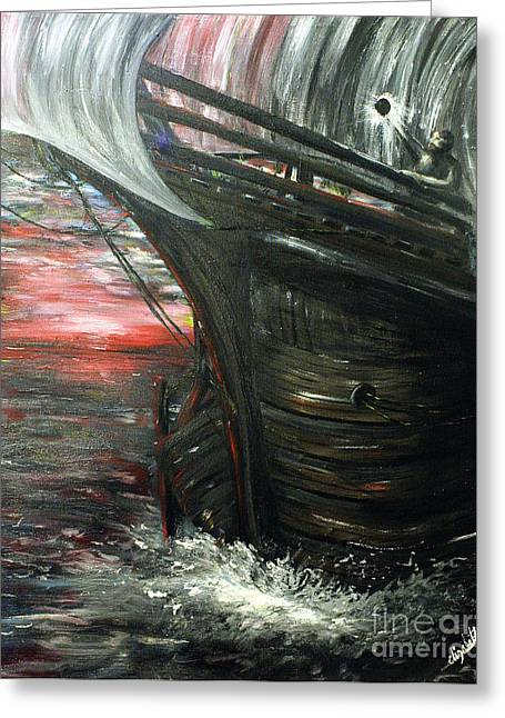 Water Vessels Greeting Cards - The Wanderer Greeting Card by Lady I F Abbie Shores
