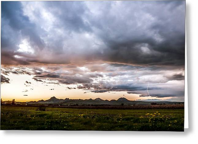 Colusa Greeting Cards - The Waning Storm Greeting Card by Blake Westmoreland