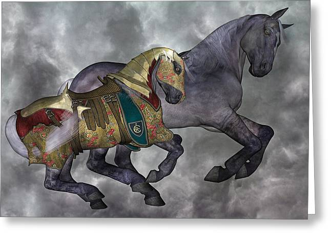 Haunted Digital Art Greeting Cards - The War Horse Greeting Card by Betsy C Knapp