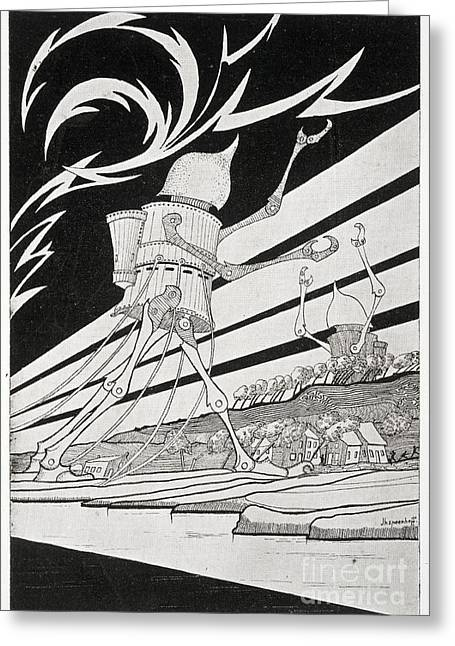 Out Of This World Greeting Cards - The War Of The Worlds, 1899 Edition Greeting Card by British Library